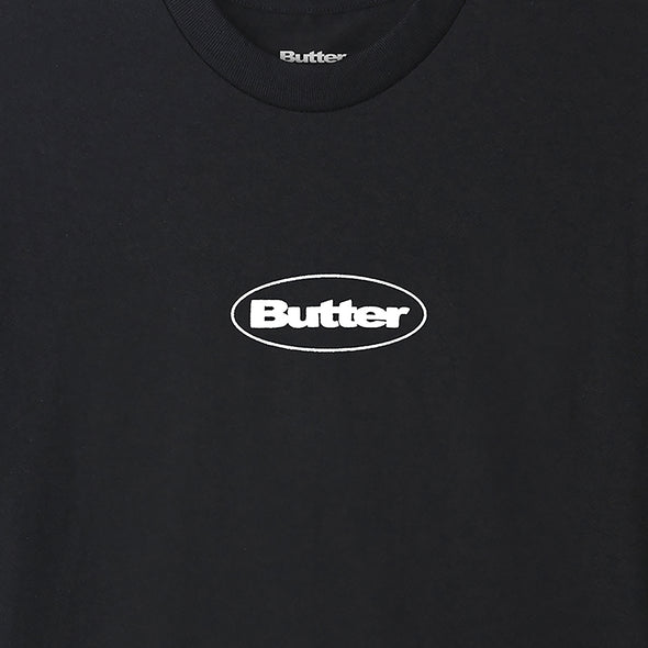 BUTTER GOODS - PUFF BADGE LOGO TEE - BLACK - Antisocial Collective