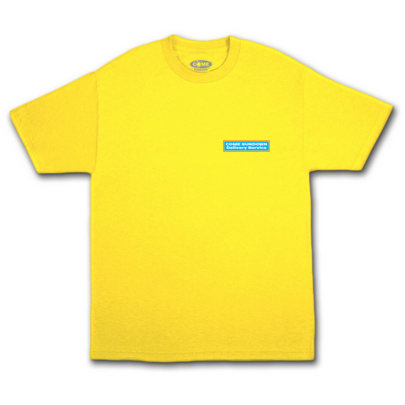 COME SUNDOWN - DELIVERY S/S TEE - YELLOW
