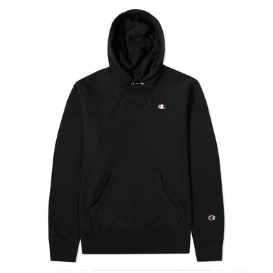 CHAMPION - REVERSE WEAVE PULLOVER HOODIE -  BLACK