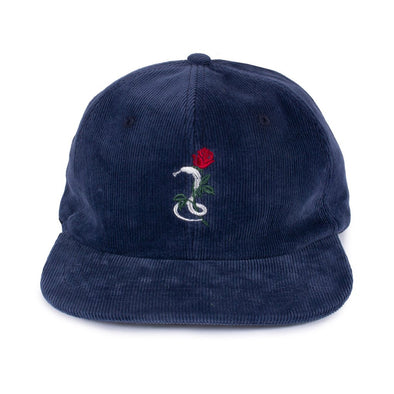 THE SNAKE HOLE - SNAKES & ROSES 6 PANEL - NAVY
