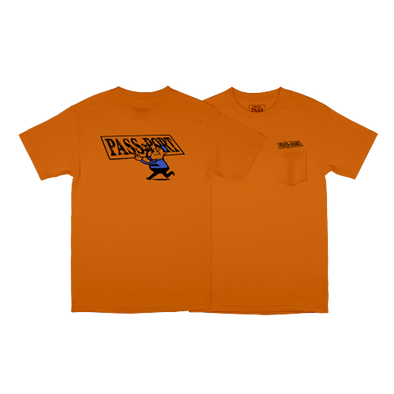 "PASS~PORT ""MIRROR MAN"" TEE - ORANGE - Antisocial Collective"