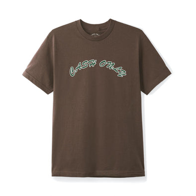 CASH ONLY - LOGO T-SHIRT - BROWN