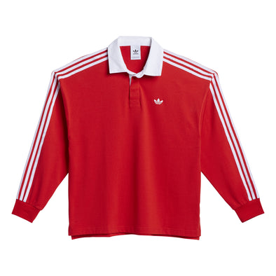 ADIDAS - SOLID RUGBY JERSEY - VIVID RED / WHITE