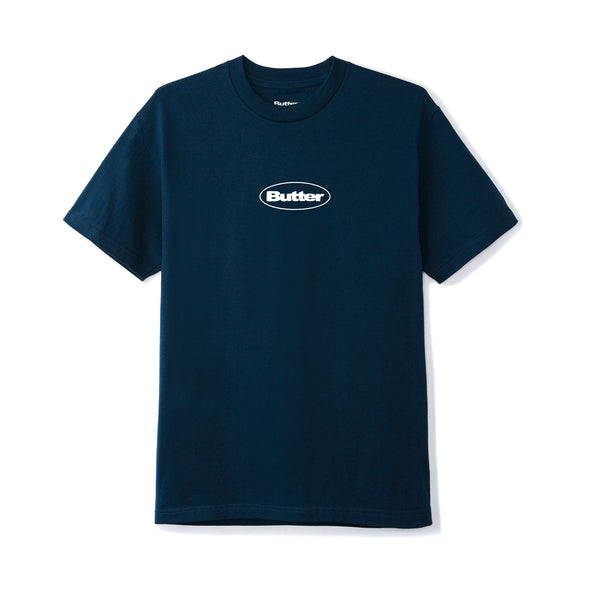 BUTTER GOODS - PUFF BADGE LOGO TEE - NAVY - Antisocial Collective