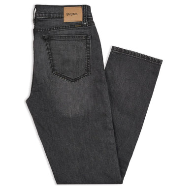 BRIXTON - RESERVE 5-POCKET DENIM PANT - WORN BLACK
