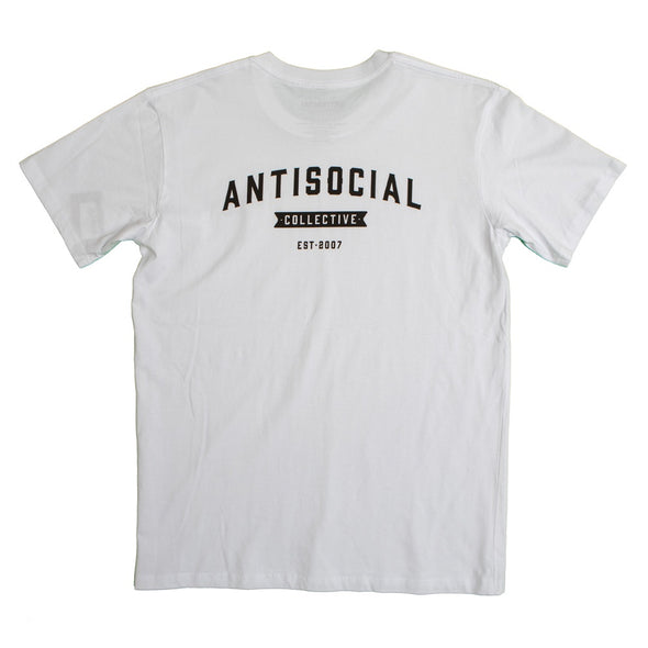 ANTISOCIAL - ASC TEE SHOP LOGO - WHITE/BLACK