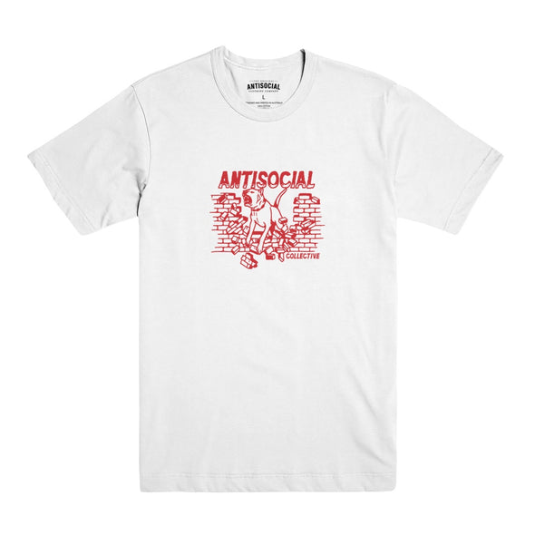 ANTISOCIAL - DOGGO S/S TEE - WHITE - Antisocial Collective