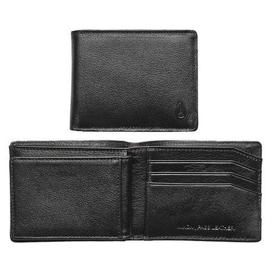 NIXON - PASS LEATHER WALLET - BLACK - Antisocial Collective