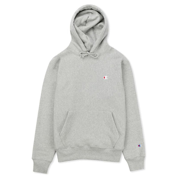 CHAMPION - REVERSE WEAVE PULLOVER HOODIE - HEATHER GREY - Antisocial Collective