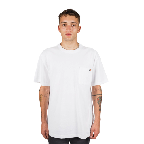 DICKIES - HEAVYWEIGHT CREW TEE - WHITE - Antisocial Collective