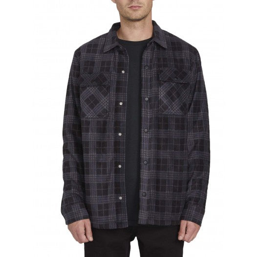 VOLCOM - BOWER POLAR FLEECE - DARK CHARCOAL - Antisocial Collective