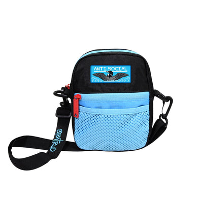 BUMBAG x ANTISOCIAL - COMPACT SHOULDER BAG - BLACK/BLUE