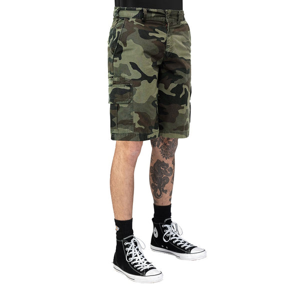 "DICKIES - WR351 RELAXED FIT 11"" RIP STOP SHORT - WASHED CAMO - Antisocial Collective"