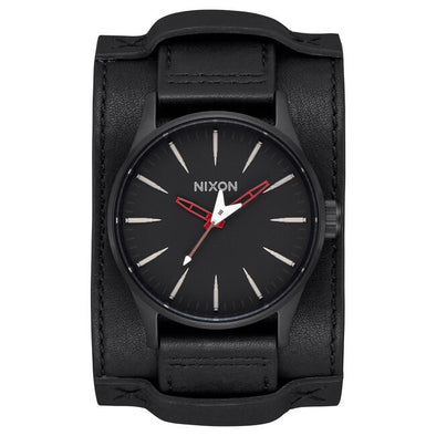"NIXON X METALLICA - SENTRY LEATHER ""SEEK & DESTROY"" WATCH"