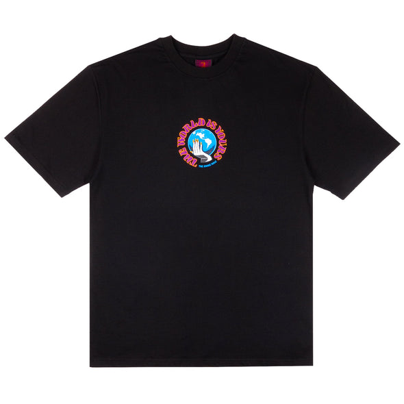 THE SNAKE HOLE - THE WORLD IS YOURS S/S TEE - BLACK