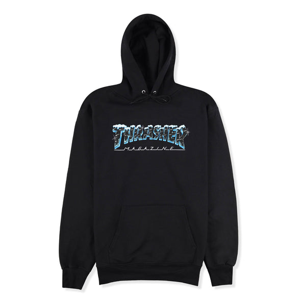 THRASHER - BLACK ICE HOOD - BLACK
