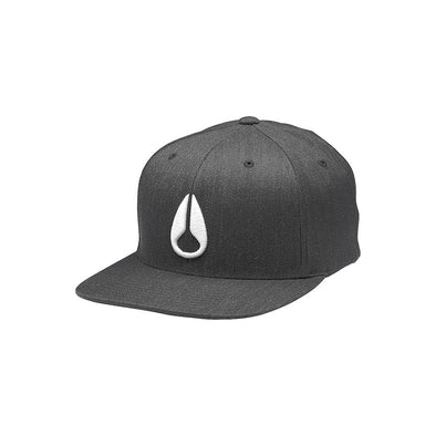 NIXON - DEEP DOWN FLEXFIT HAT - BLACK HEATHER