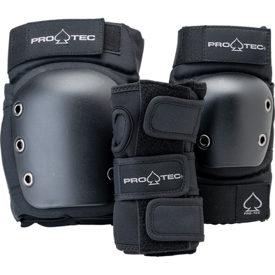 PRO-TEC - STREET JUNIOR 3PK OPEN BACK - BLACK