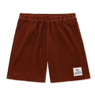 BUTTER GOODS - WORLD MUSIC SHORTS - RUST