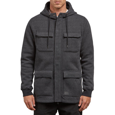 VOLCOM - A4 BONDED ZIP FLEECE - BLACK - Antisocial Collective