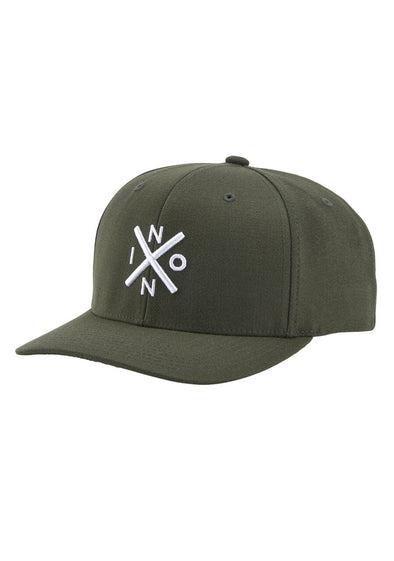 NIXON - EXCHANGE FLEXFIT HAT - OLIVE