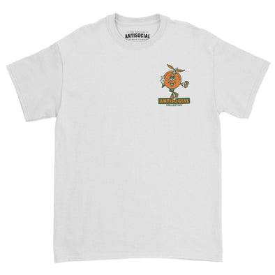 ANTISOCIAL - LOCAL PRODUCE S/S TEE - WHITE - Antisocial Collective