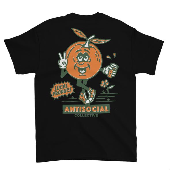 ANTISOCIAL - LOCAL PRODUCE S/S TEE - BLACK - Antisocial Collective