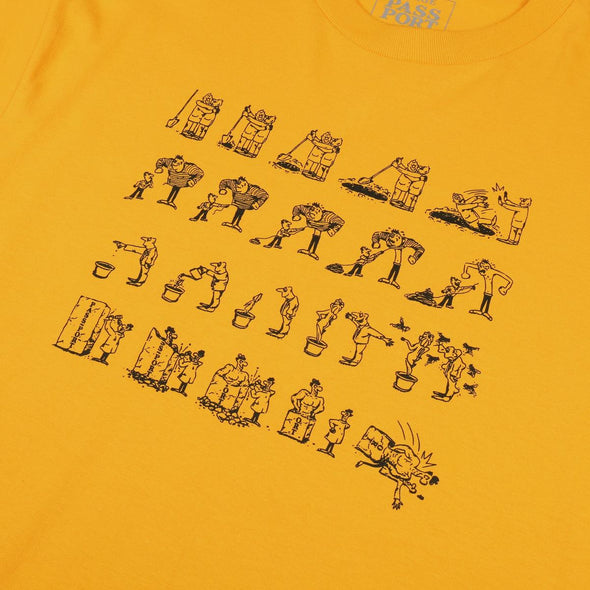 PASS~PORT - W.C.W.B.F TEE - GOLD