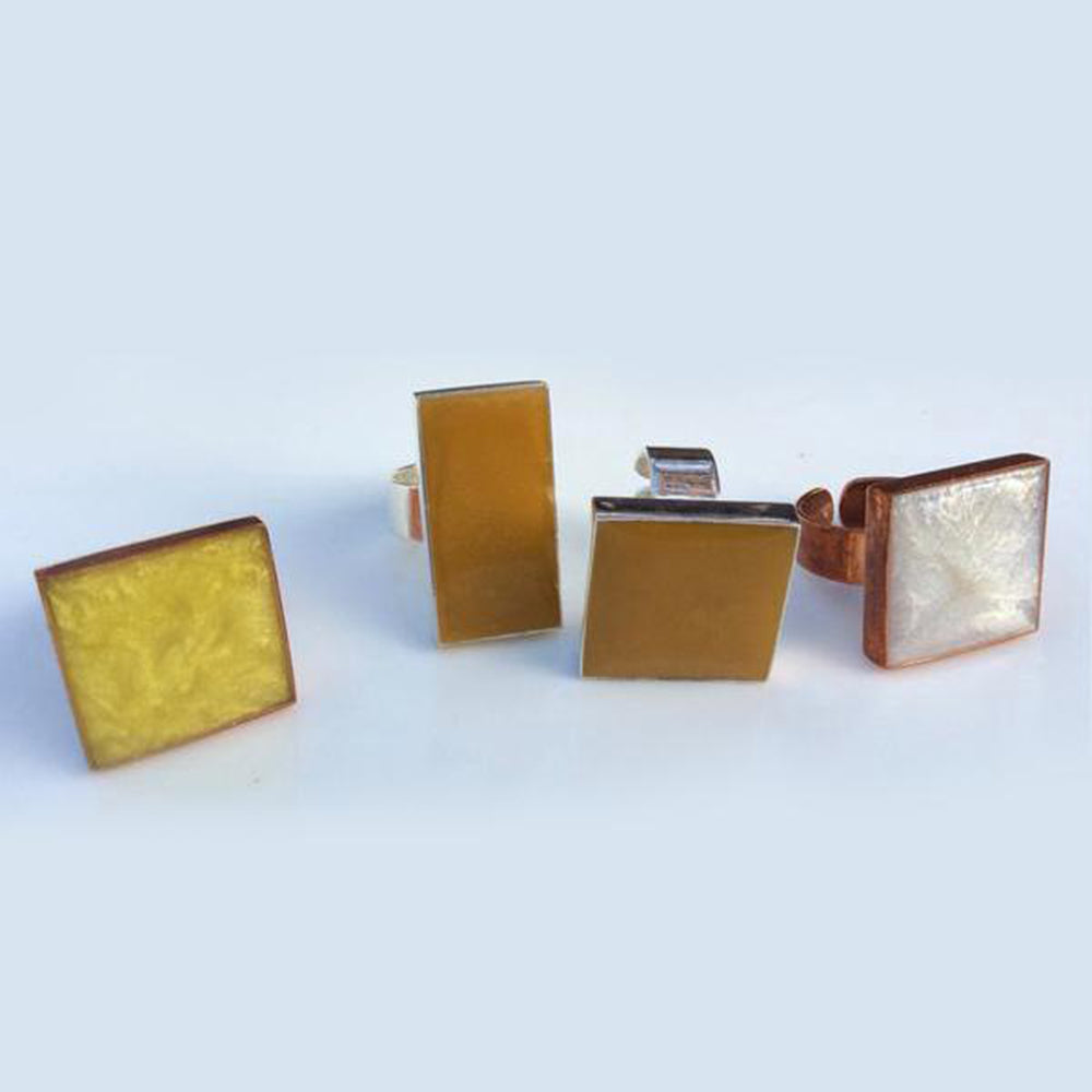 Copper and brass adjustable rings