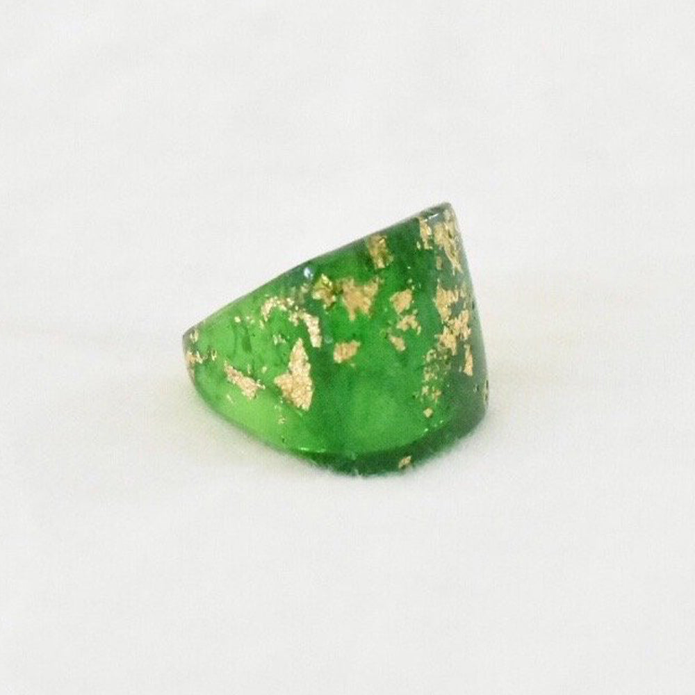 The Gilded Statement Ring - Green Bold