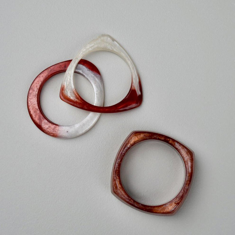 Red and white bangles