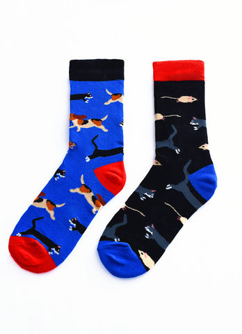 Men's Funny Party Dog-Cat-Mouse Socks - soxtore