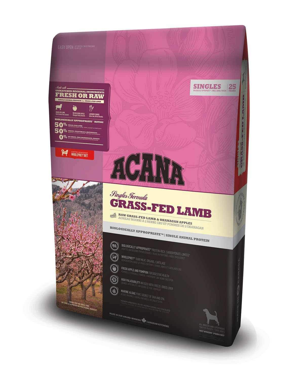 Jolly Wagger For Large Breed Adult Dog With Acana Grass Fed Lamb 17.4kg (11.4kg+6kg)