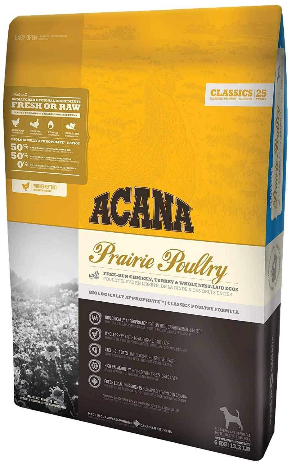 Jolly Wagger For Medium Breed Adult Dog With Acana Prairie Poultry 11.4kg