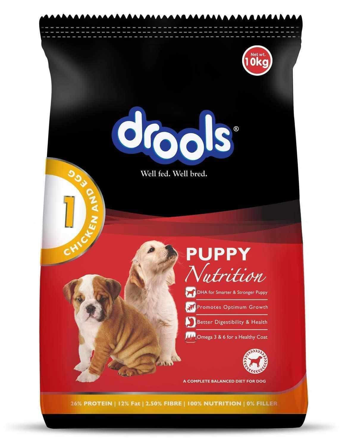 Jolly Wagger For Large Breed Puppy With Drools Chicken & Egg Puppy 10kg