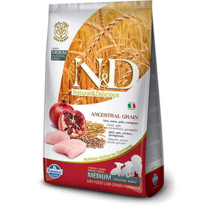 Jolly Wagger For Medium Breed Puppy With Farmina N&D Low Grain Chicken & Pomegranate 5kg