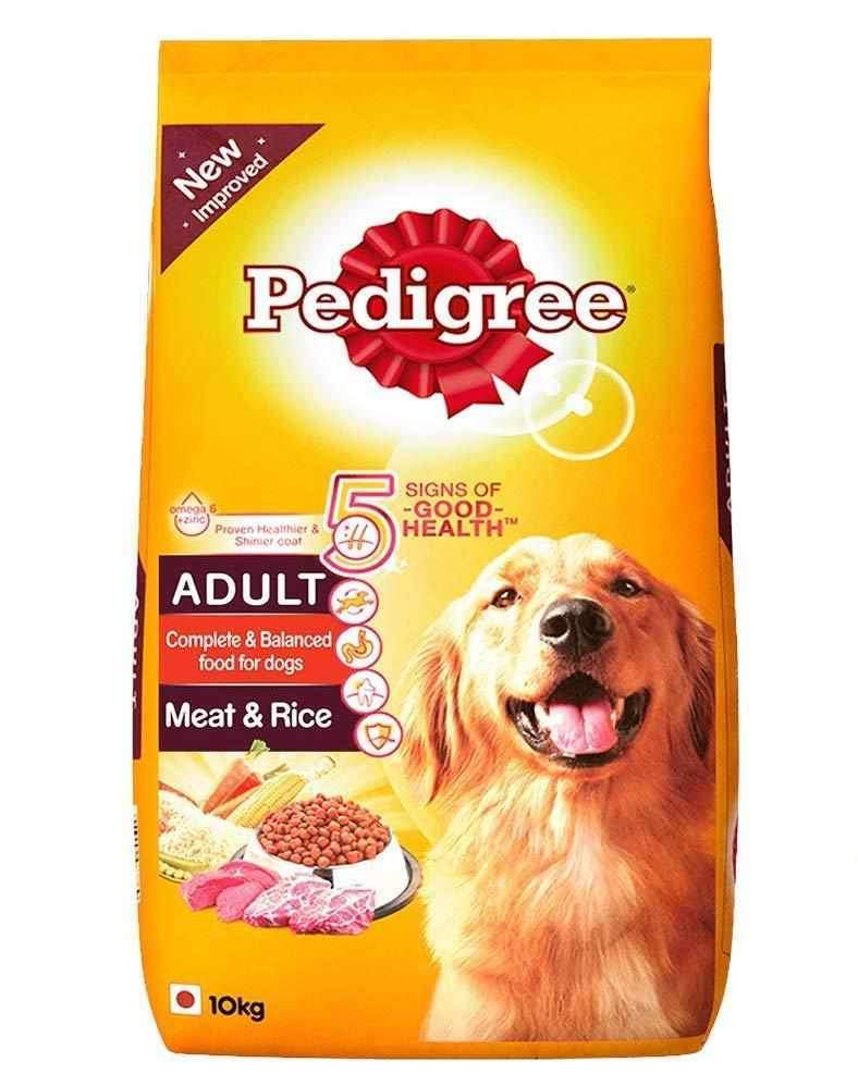 Jolly Wagger For Large Breed Adult Dog With Pedigree Meat & Rice 20kg (10 kg x 2 packets)