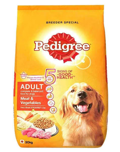 Jolly Wagger for Large Breed Adult Dog With Pedigree Meat & Vegetables 20kg