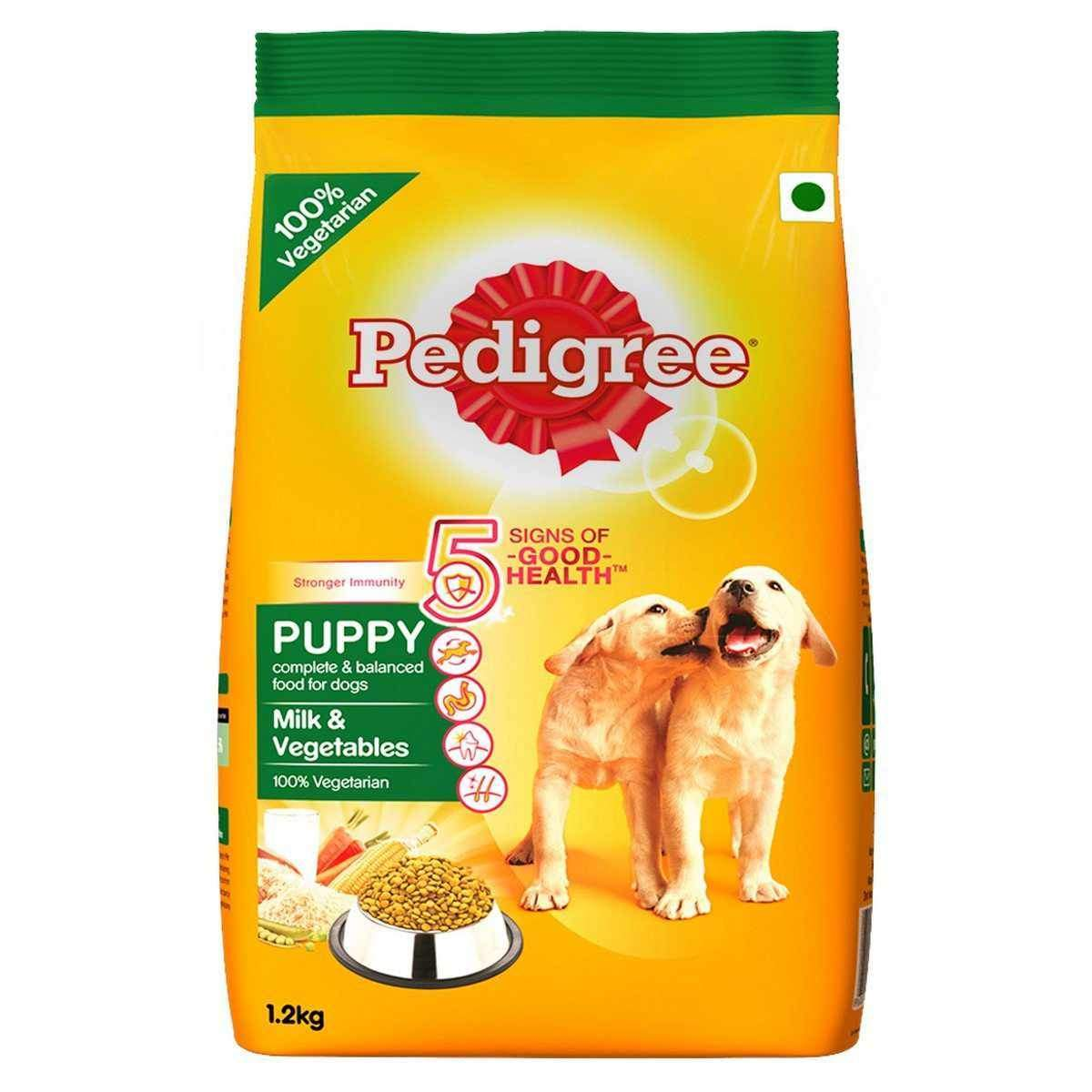 Jolly Wagger For Small Breed Puppy With Pedigree Milk & Vegetable 2.4kg (1.2kg + 1.2kg)