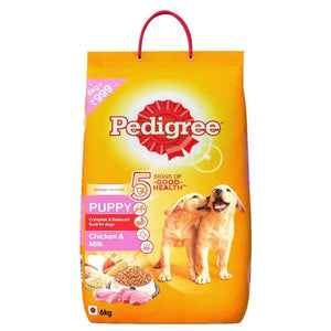 Jolly Wagger For Large Breed Puppy With Pedigree Chicken & Milk Puppy 8.4kg (6kg + 1.2kg + 1.2kg)