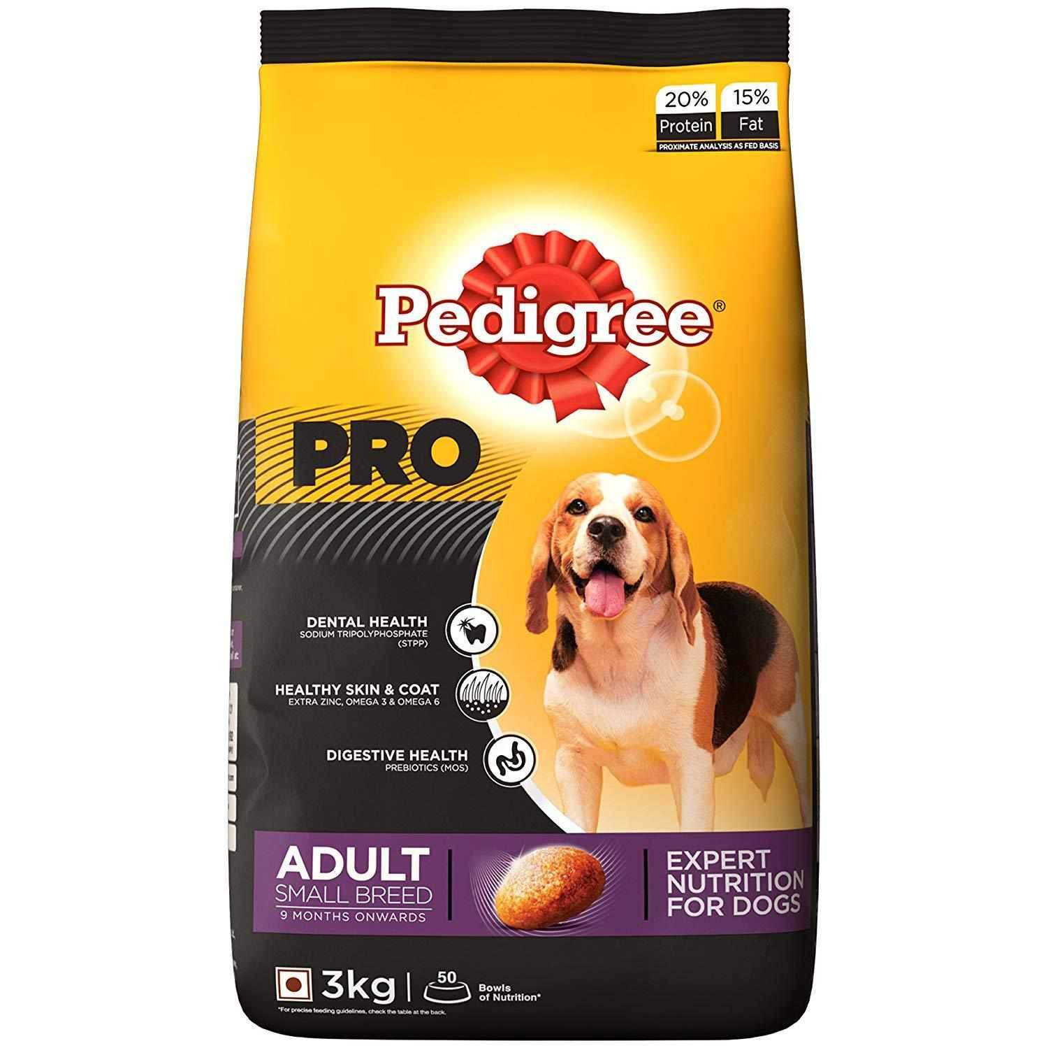Jolly Wagger For Small Breed Adult Dog With Pedigree Pro Adult Small Breed 4.2kg (3kg + 1.2kg)