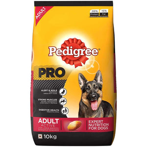 Jolly Wagger For Large Breed Adult Dog With Pedigree Pro Adult Active 20kg