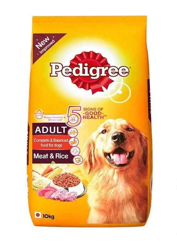 Jolly Wagger For Medium Breed Adult Dog With Pedigree Adult Meat & Rice 10kg