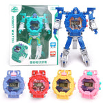 Robot Transformation Wristwatch Toy Mecha Robot Electronic Watch Children Sports Cartoon Watches Kids Xmas Gifts #820 - go-sale-now