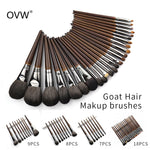 OVW Natural Goat Hair Eyeshadow Makeup Brushes Set nabor kistey Crease Blending Highlighting Brush pinceaux maquillage kit - go-sale-now
