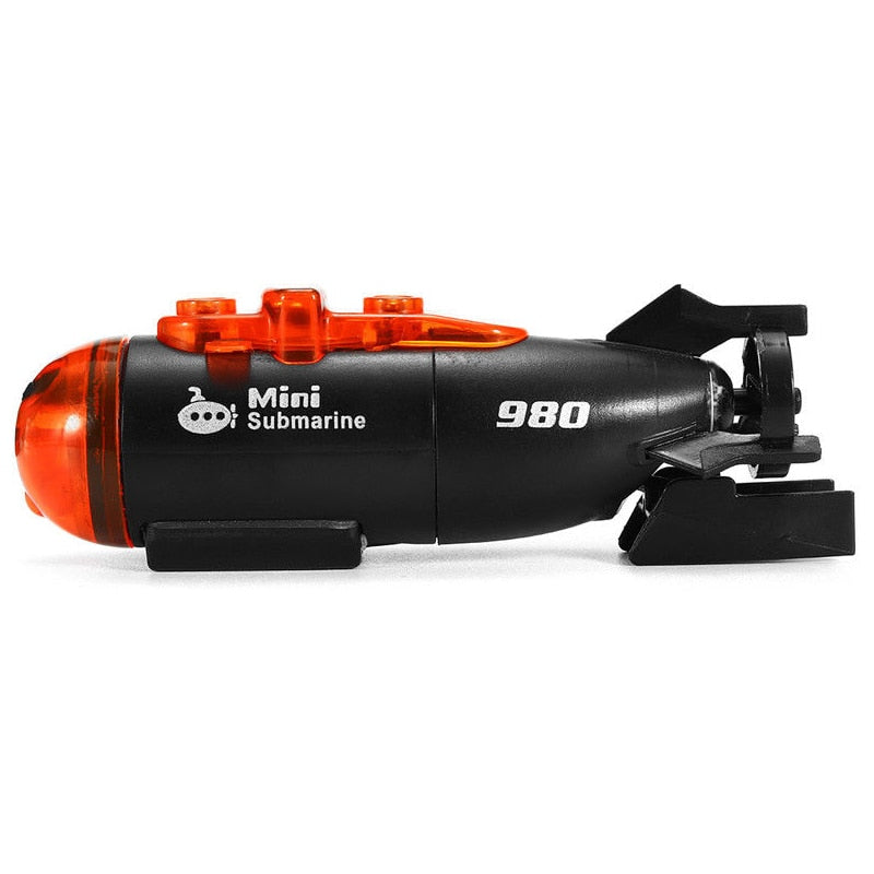 Mini Micro-Radio Remote Control RC Submarine Ship Boat With Led Light Toy Gift - go-sale-now