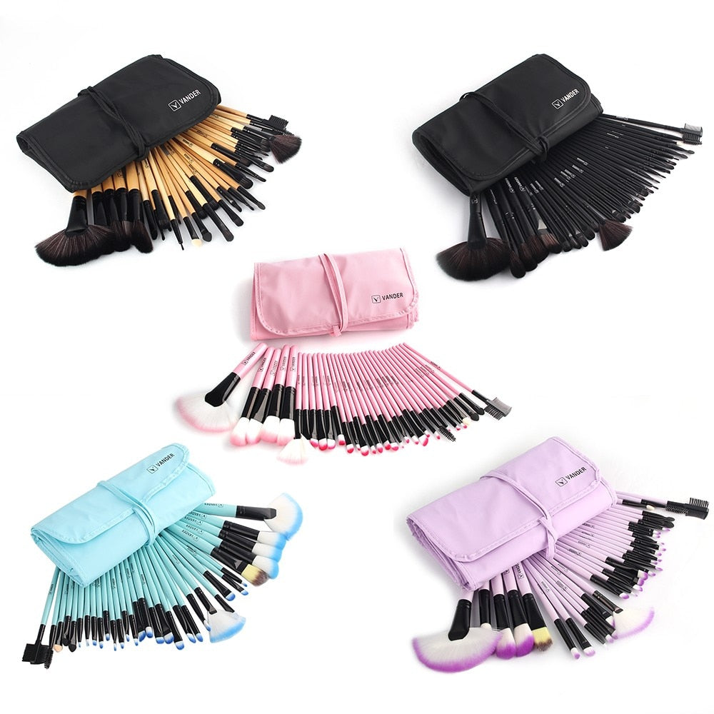 32Pcs Makeup brushes Sets With Bag Eye shadow Eyebrow highlighter Brush Kits Cosmetic Foundation brushes pincel maquiagem - go-sale-now