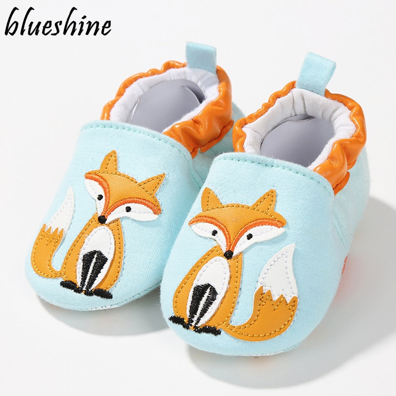 1 Pair Fashion Cotton Cloth First Walker Cartoon Baby Boy Girls Shoes Bebe Toddler Moccasins 0-24M Non-slip Soft Bottom Shoes - go-sale-now