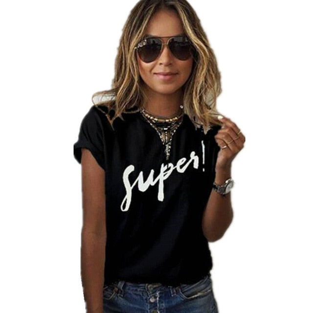 Plus Size S-XL Harajuku Summer T Shirt Women New Arrivals Fashion VOGUE Printed T-shirt Woman Tee Tops Casual Female T-shirts - go-sale-now
