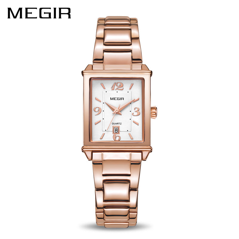 MEGIR Ladies Watches Rose Gold Luxury Women Bracelet Watch for Lovers Fashion Girl Quartz Wristwatch Clock Relogio Feminino 1079 - go-sale-now